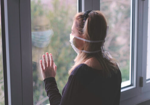 Woman in isolation at home. Image credit: iStock