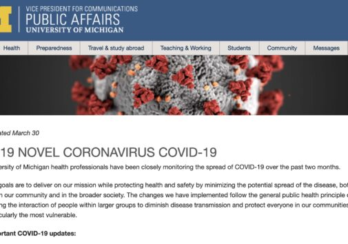 U-M Public Affairs Coronavirus