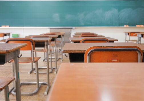 Empty classroom. Image credit: iStock