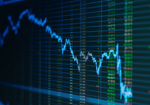 Stock market graph. Image credit: iStock