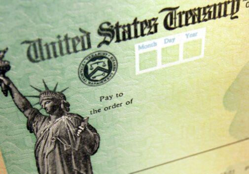 Stimulus check. Image credit: Matt Rourke/AP
