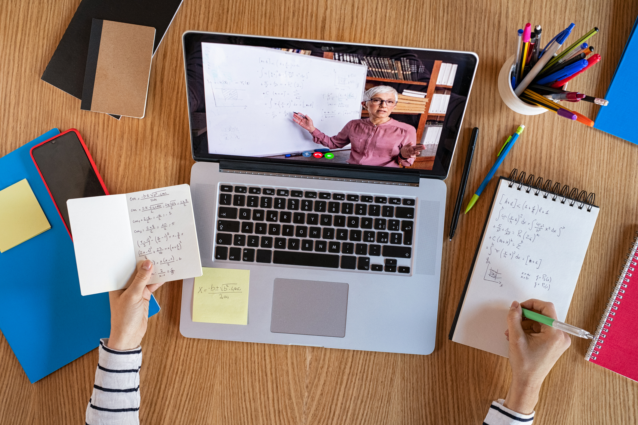 Student learning at home with online lesson. Image credit: iStock