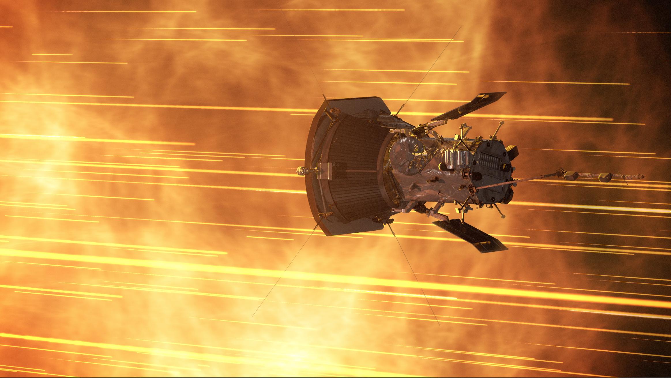 An illustration of Parker Solar Probe at the sun. Image credit: NASA