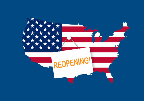 U.S. reopening after the peak of the COVID-19 pandemic. Image credit: iStock