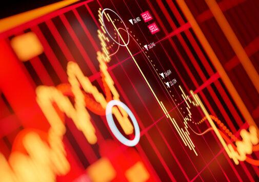 Stock market shift. Image credit: iStock