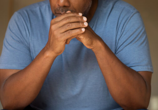 Man in deep thought. Image credit: iStock