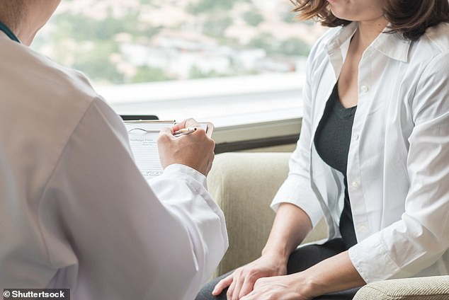 Woman talking to doctor. Image credit: Shutterstock