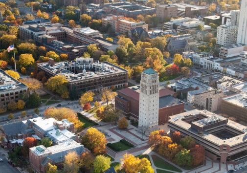 University of Michigan Campus aerial image.