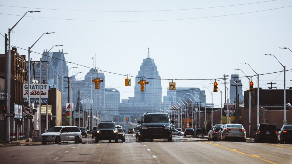 Detroit street. Image credit: Poverty Solutions