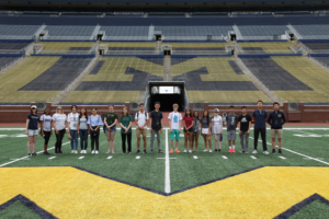 The 2019 group toured the Big House at U-M. Image credit: The McNeil Group
