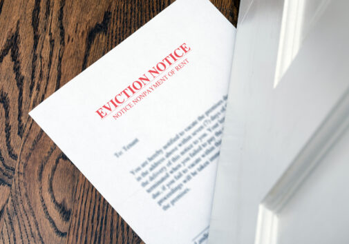 Eviction Notice. Image credit: iStock