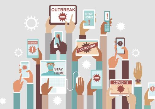 Social media COVID19 concept. Image credit: iStock