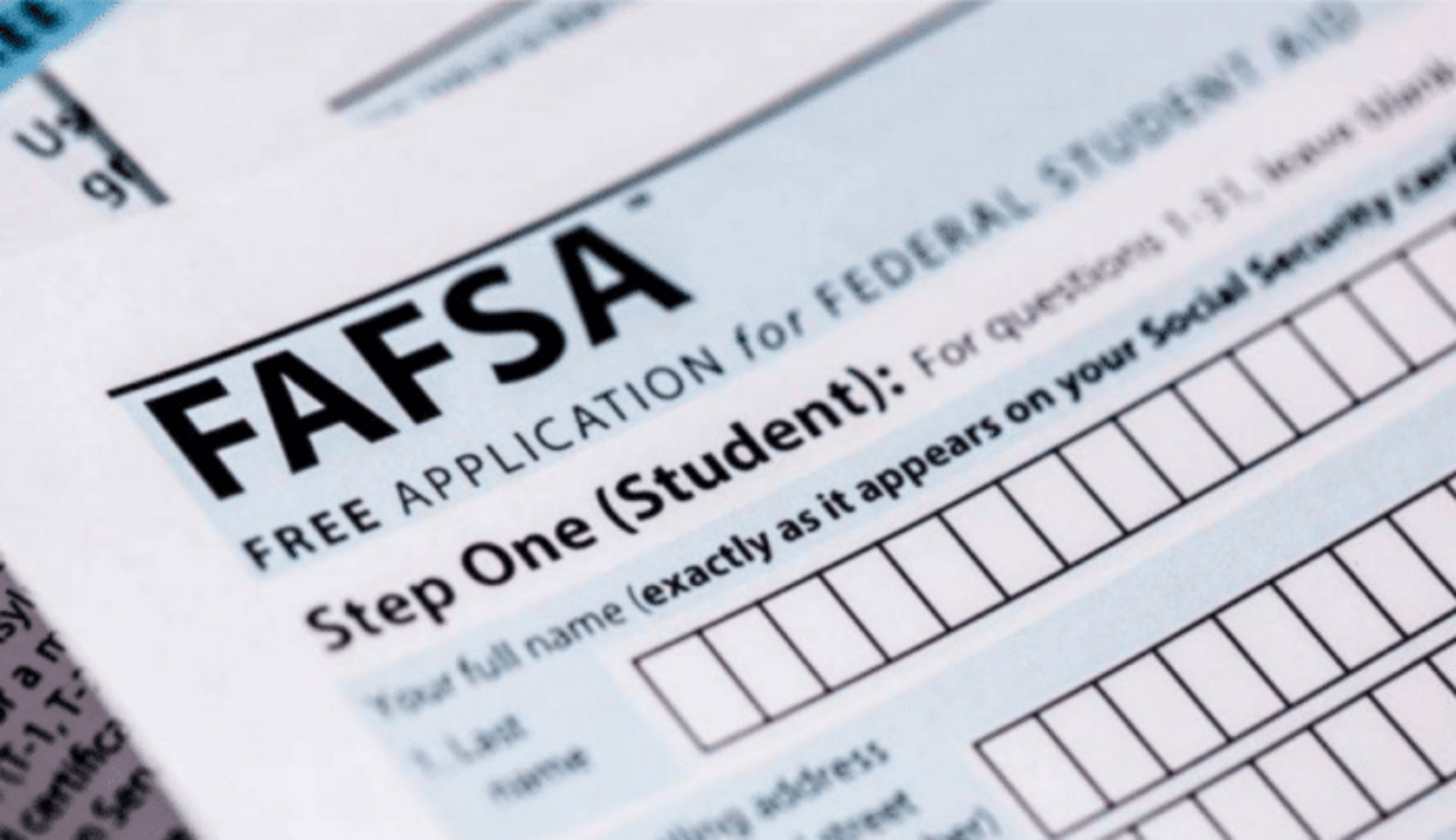 FASFA application. Image: Public Domain