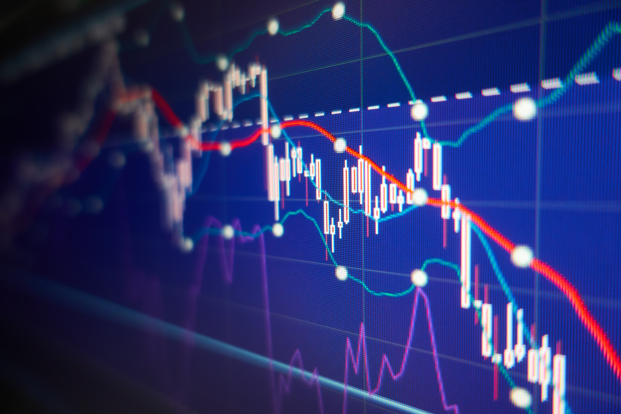 Stock market graphs and charts. Image credit: iStock