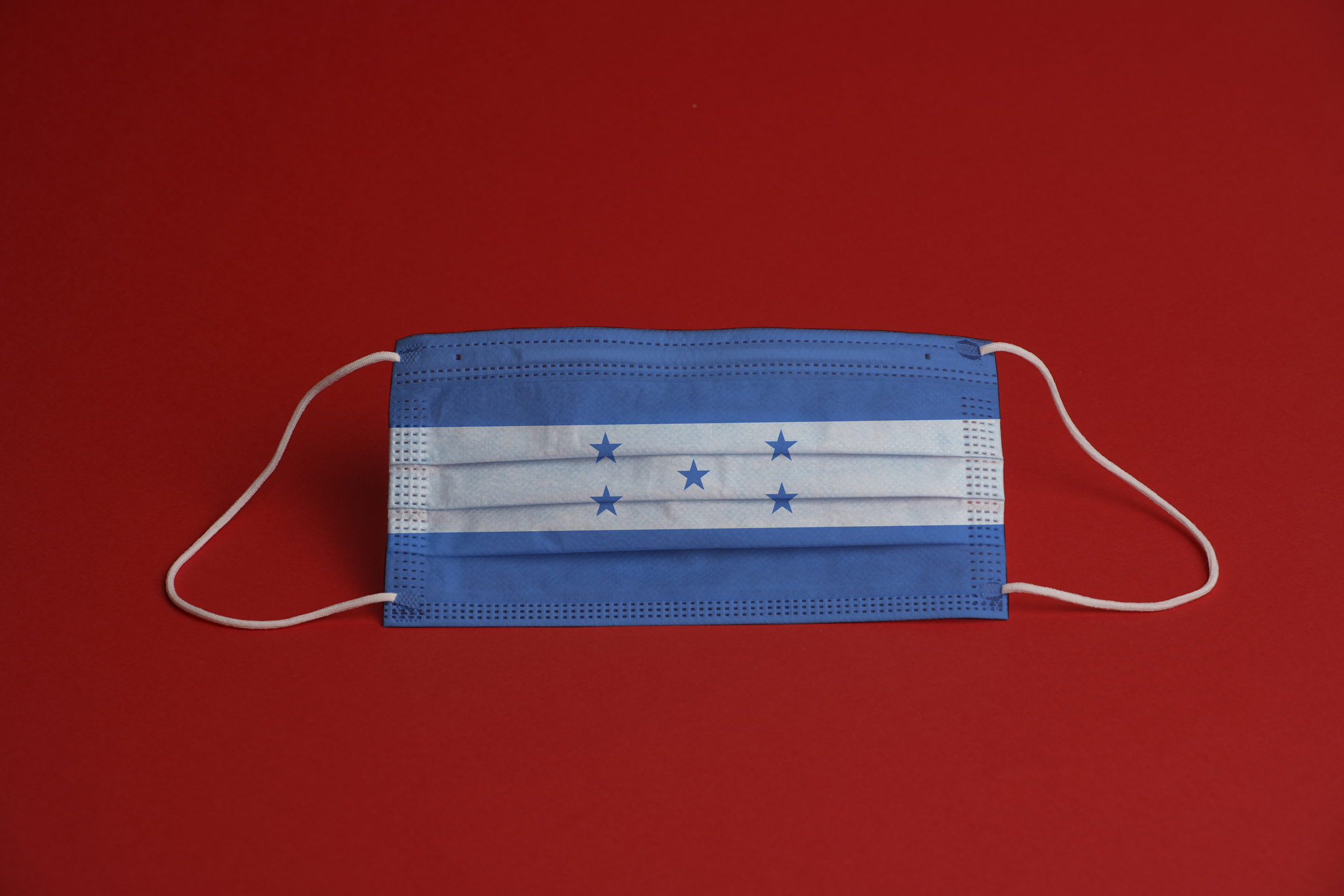 Medical mask with the Honduras flag on it. Image credit: iStock