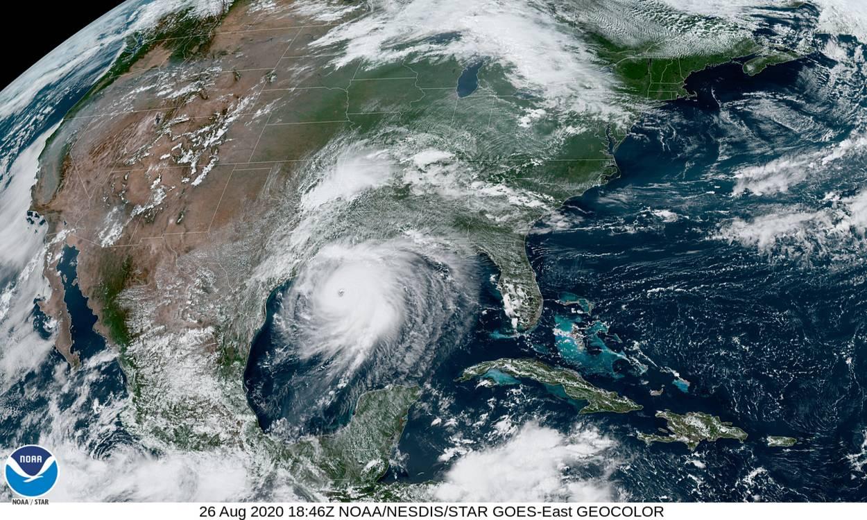 Satellite image of Hurricane Laura. Image courtesy: NOAA