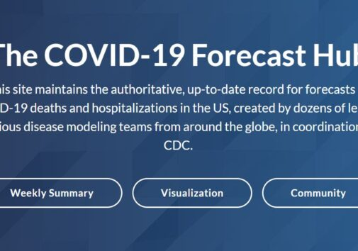 The COVID-19 Forecast Hub aggregates data models from across the nation into a weekly prediction for the CDC.