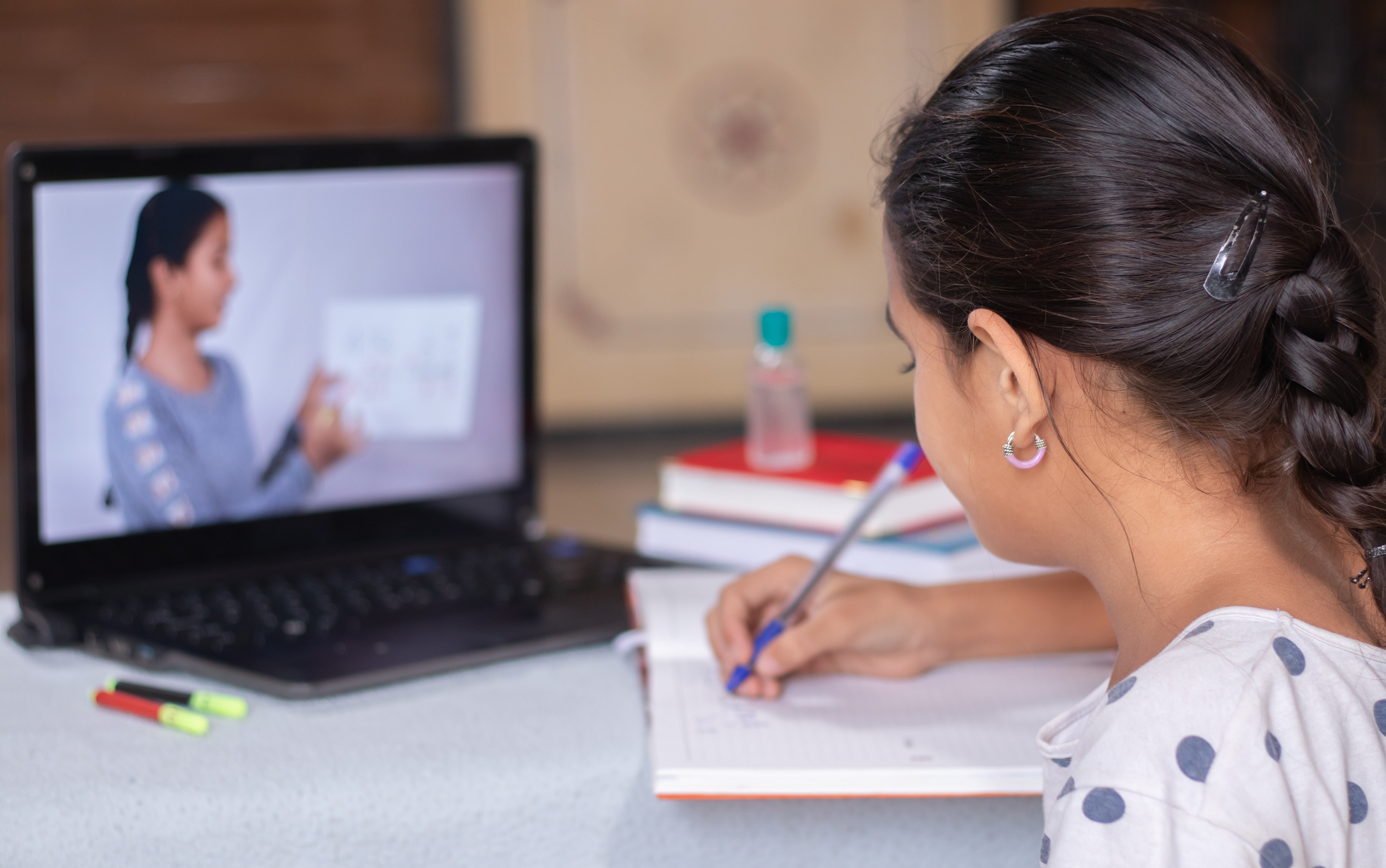 E-learning due to COVID-19. Image credit: iStock