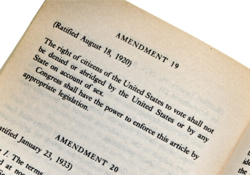 19th Amendment. Image credit: iStock