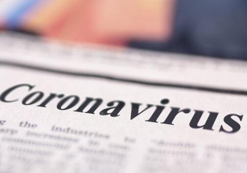 Coronavirus written newspaper. Image credit: iStock