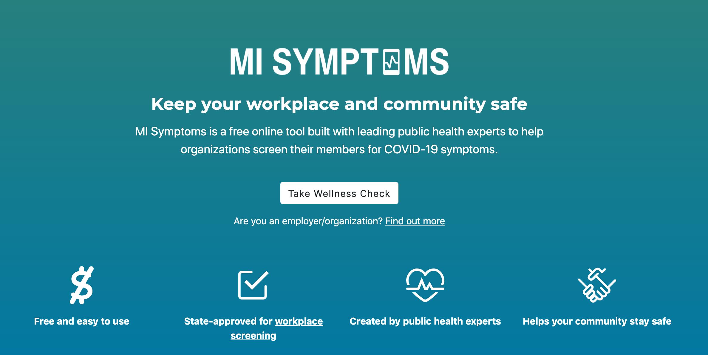 MI Symptoms screenshot