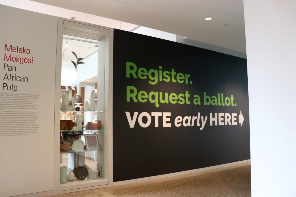 The Ann Arbor City Clerk's satellite office at Museum of Art will open on Sept. 22, with absentee ballots available on Sept. 24. Image credit: Nick Beardslee, Stamps School of Art & Design