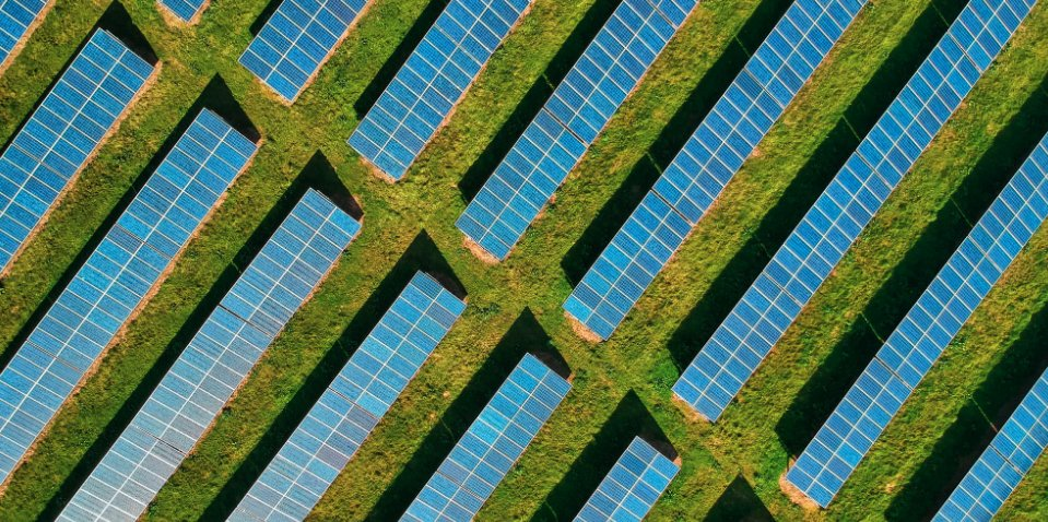 Overhead of solar panels. Image credit: @umich twitter.