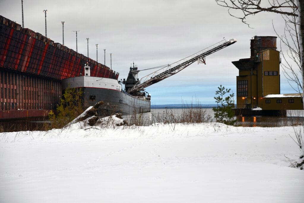 Freighter in Marquette, Michigan. Image credit: Michigan Sea Grant