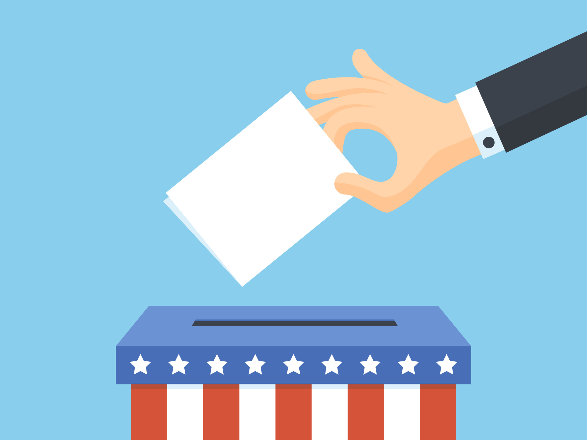 United States of America voting ballot illustration. Image credit: iStock