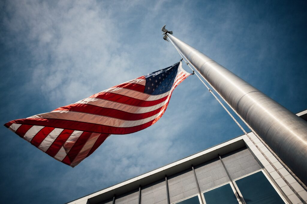 An American flag. Image credit: UnSplash.com