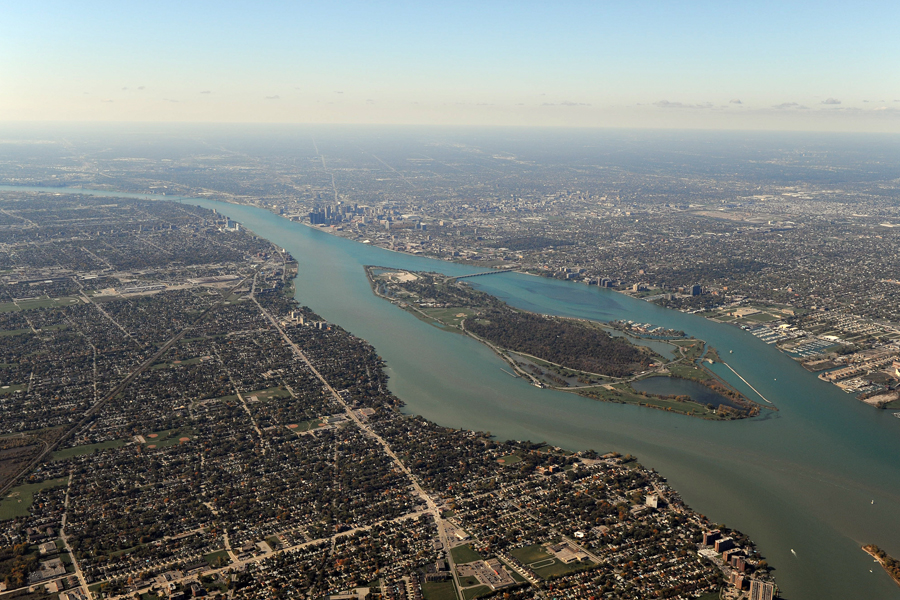 Detroit River. Image credit: U.S. Army Corps of Engineers