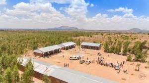Aerial View of Public School in Malawi