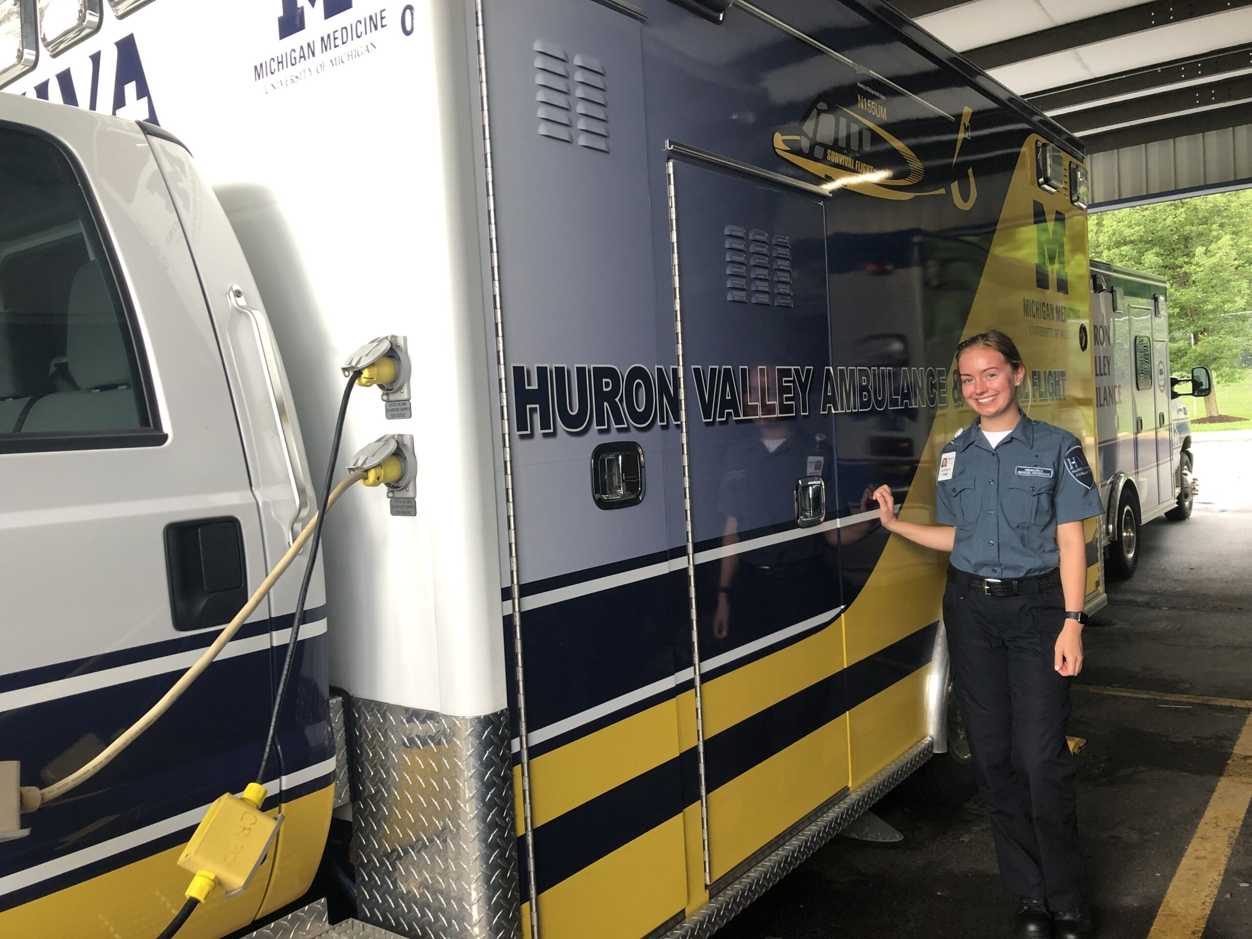 Anna Loughman, a neuroscience major at the University of Michigan, works part time as an EMT. Image credit: Anna Loughman