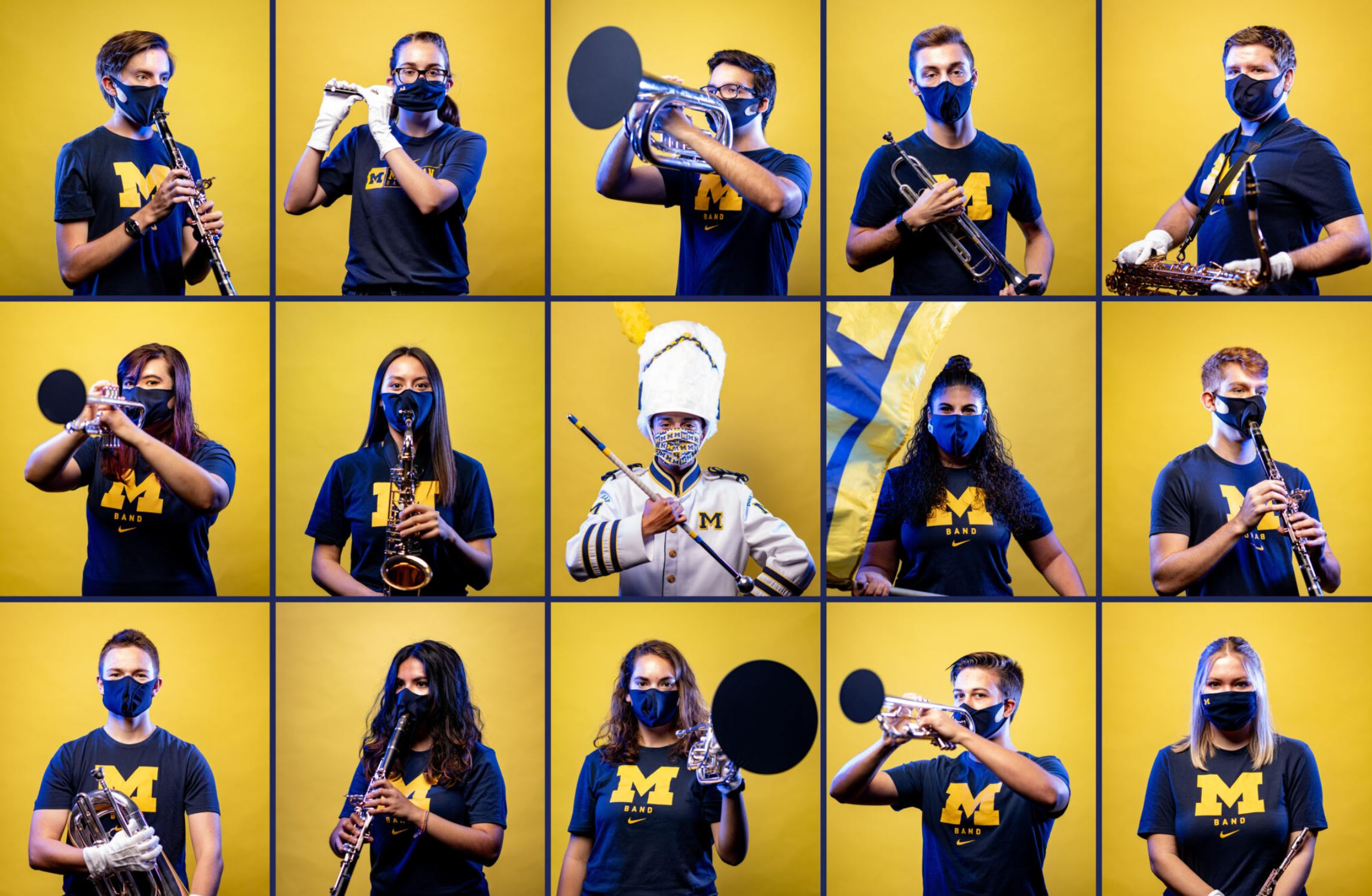 Michigan Marching Band members. Image credit: Eric Bronson/Michigan Photography