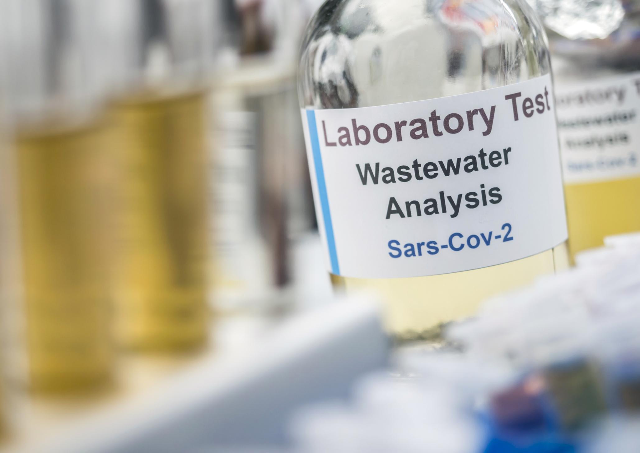 Wastewater analysis of sars-cov-2 virus. Image credit: iStock