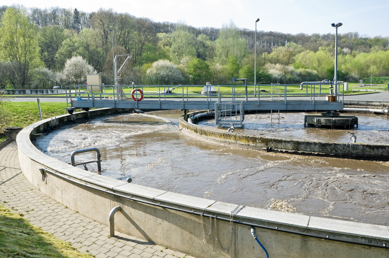 Municipal sewage treatment plant. Image credit: iStock