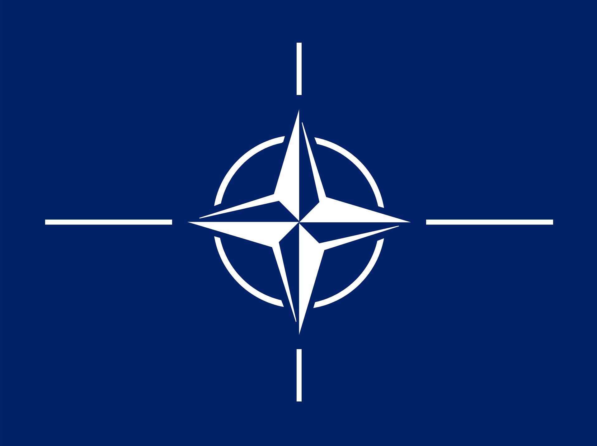 Flag of NATO. Image credit: Wikimedia Commons