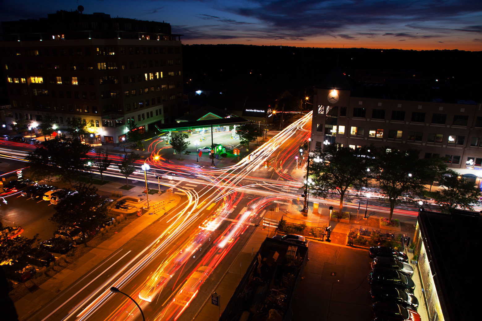 An Ann Arbor intersection. Image credit: Marcin Szczepanski, Michigan Engineering