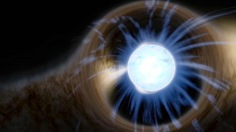 Artist rendering of a neutron star. Image credit: Raphael.concorde, Wikimedia Commons