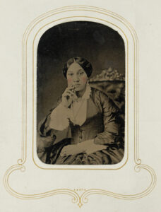 Arabella Chapman was an African American music teacher from Albany, New York who curated two photo albums from her tintype and cartes de visite collection. Each album is a similar but different collection of constructed communities; one book mostly displays Chapman's family, while the other features family, friends and political figures. Image credit: Arabella Chapman carte-de-visite albums (1878-[1890s]), William L. Clements Library, University of Michigan (Finding Aid).