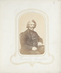 One of the souvenir photographs of famous people from the Arabella Chapman public parlor album. This image of Douglass was taken in Chicago by Samuel M. Fassett. Image credit: Arabella Chapman carte-de-visite albums (1878-[1890s]), William L. Clements Library, University of Michigan (Finding Aid).