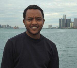 Zerihun Birehanu. Belle Isle in Detroit during a UMAPS outing. Image credit: ASC