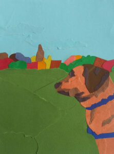 """An image created using the """"Mixed Media Scavenger Hunt"""" project prompt on Art Connects Kids, a new website created by students at the University of Michigan Stamps School of Art & Design."""
