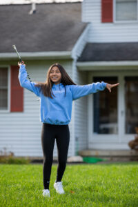 Elly, a patient of Dr. Tom Saba, at her home in Saline, MI. Image credit: Eric Bronson, Michigan Photography