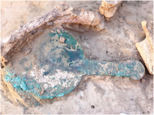 Mirror recovered from the site of Mamai-Gora. Image credit: S. Andrukh