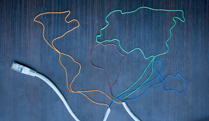 Concept illustration showing wires of various colors. Image courtesy: U-M Arts.