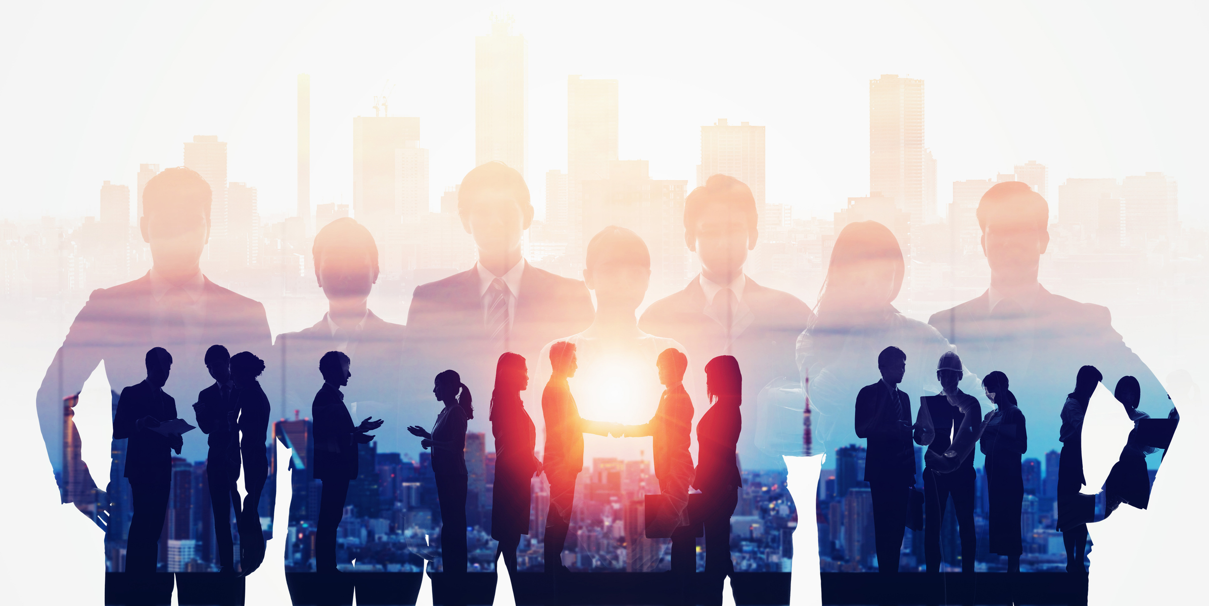Business network concept. Group of businessperson. Teamwork. Human resources. Image credit: metamorworks, iStock