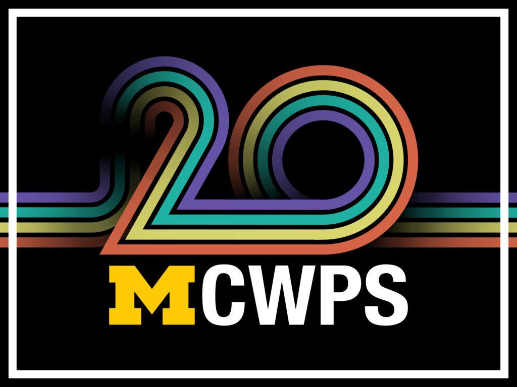 U-M Center for World Performance Studies 20th Anniversary logo