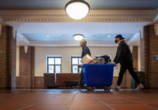 Move-In Day- West and South Quad. Image credit: Michigan Photography.