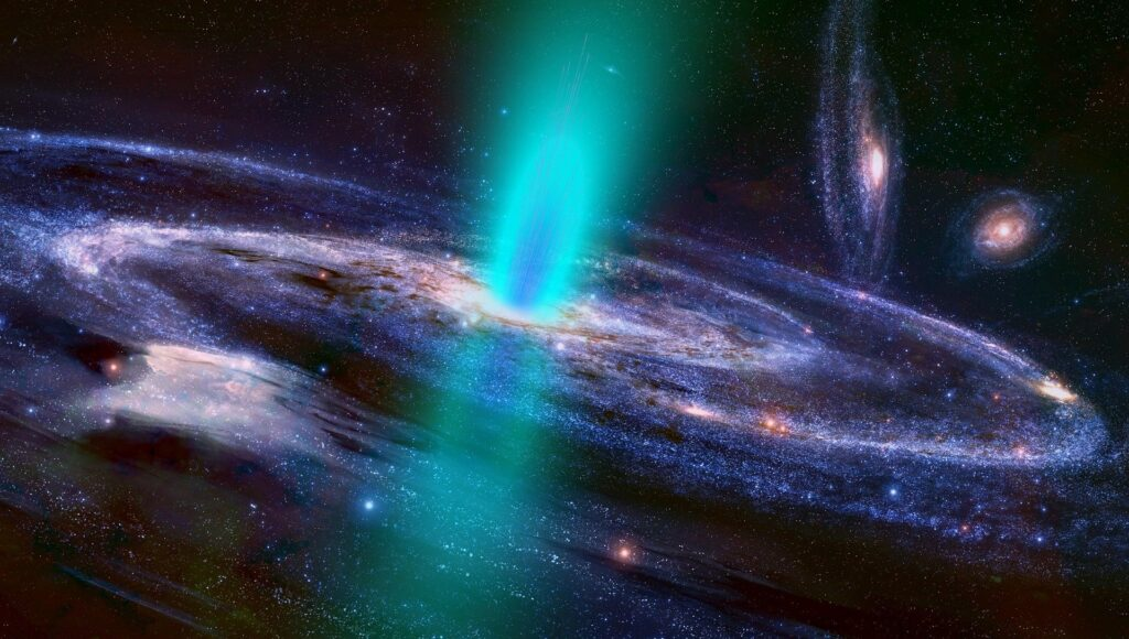 Concept image of a galaxy. Image credit: ParallelVision, Pixabay